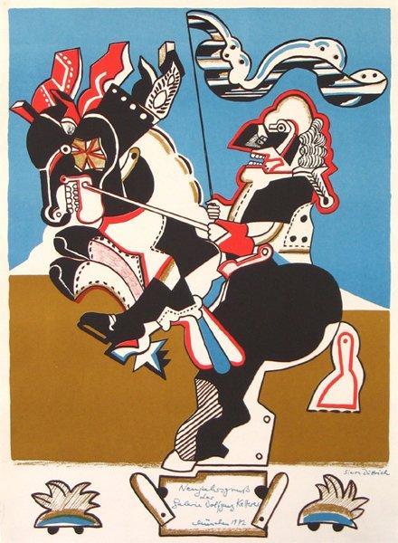 3006: Horst Dietrich Original Signed No. Silkscreen