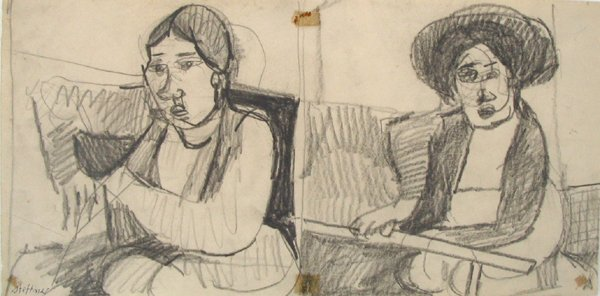 3011: Uri Stettner Original Pencil Drawing Israeli