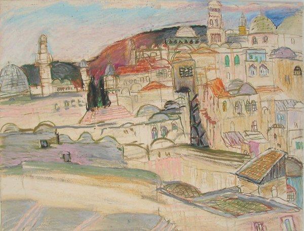 3024: Moreno Pincas Original Pastel Painting
