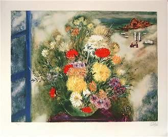 3040: Reuven Rubin Original Signed No. Lithograph