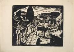 3066: J.Steinhardt Original Signed Woodcut Jewish Art
