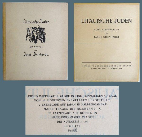 3104: J. Steinhardt Original Woodcuts Portfolio Jewish