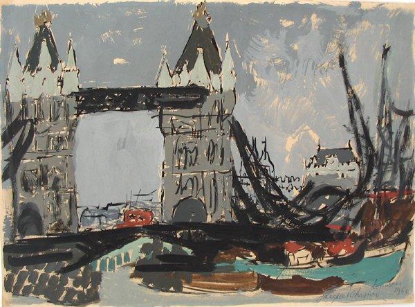 4005: Jacques Shapiro Original Gouache Painting