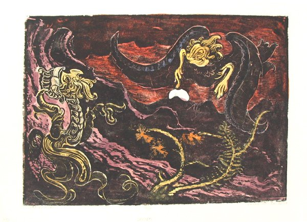 4013: J.Steinhardt Original Signed Woodcut Jewish Art