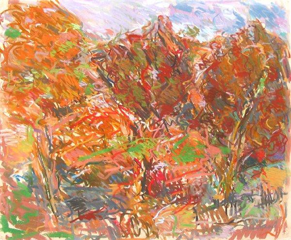 4014: David Ben-Shaul Original Pastel Drawing Israeli