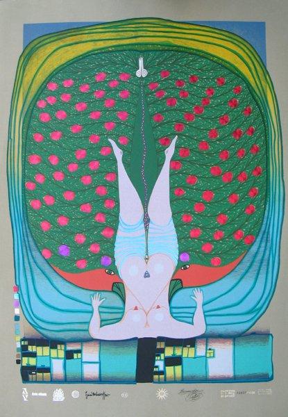 4017: Hundertwasser Original Inscribed and No. Silkscrn