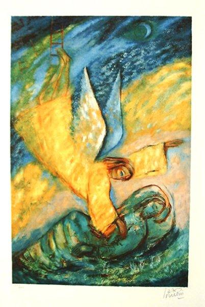 4019: Reuven Rubin Original Signed and No. Lithograph