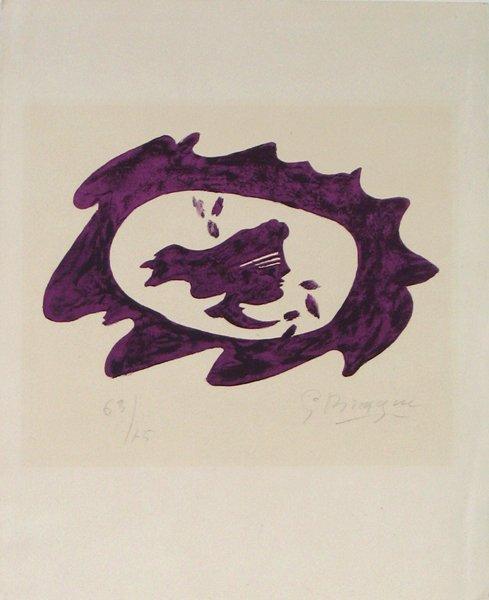4021: Georges Braque Original Signed No. Lithograph