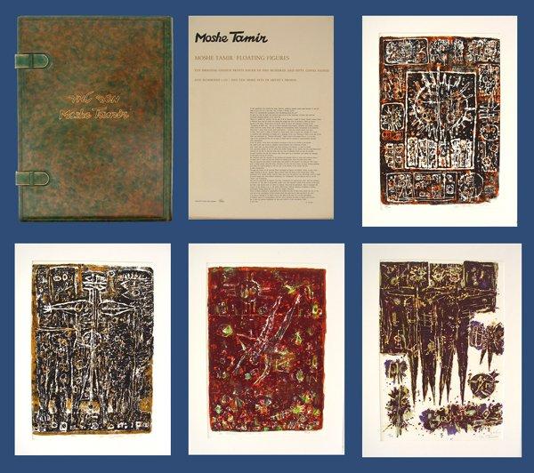 4023: Moshe Tamir Original lithographs Portfolio