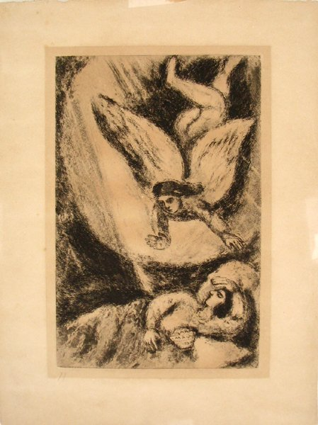 5016: Marc Chagall open edition Etching Jewish Art