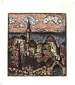 5057: Jacob Steinhardt original Woodcut Jewish Art