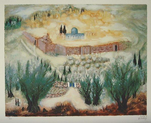 1: Reuven Rubin, Original S&N  Lithograph, Israeli art