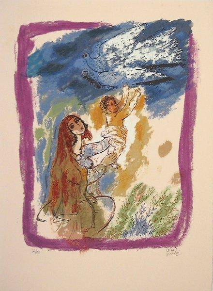 4: Reuven Rubin Original S&N SILKSCREEN Israeli Art