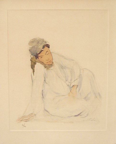 7: Anna Ticho Original Signed No. Lithograph, Jewish ar