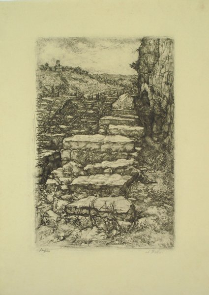 9: Anna Ticho (1894-1980) Original S&N Lithograph, Jewi