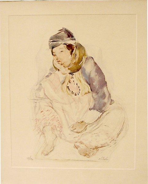 10: Anna Ticho (1894-1980) Original S&N LITHOGRAPH, Jew
