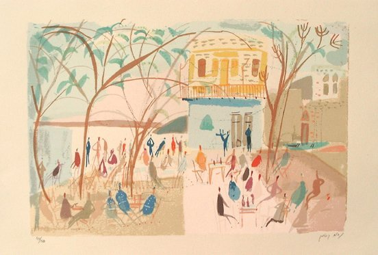 13: Nahum Gutman Original S&N Silkscreen Israeli art