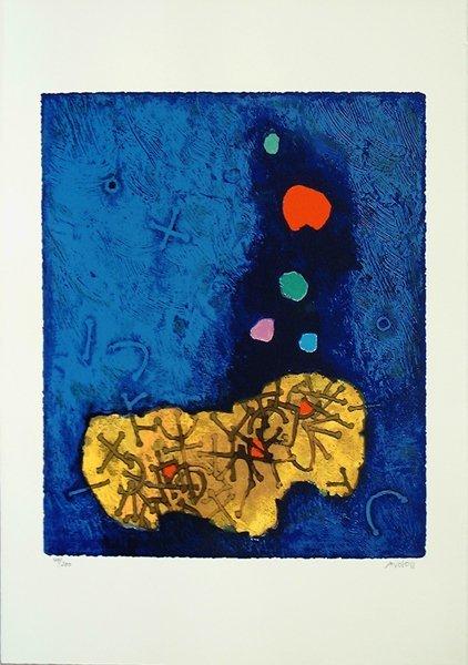 19: Mordecai Ardon Original Silkscreen, Jewish art