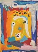 139: M. Kadishman Original oil on canvas, Israeli art