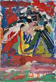 140: M. Kadishman Original oil on canvas, Israeli art