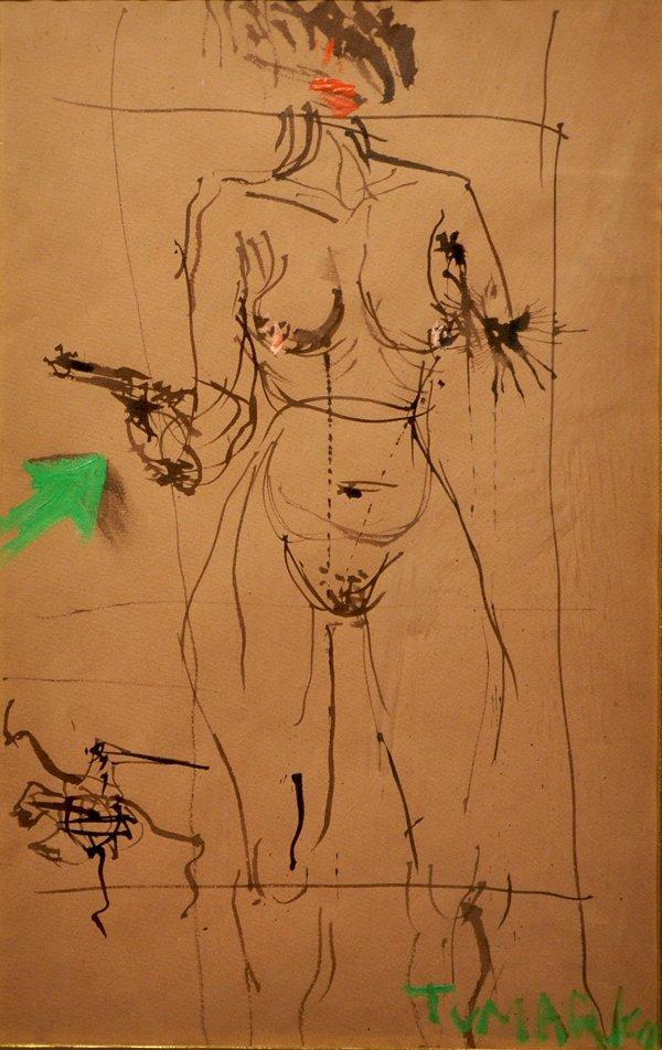1: Igael Tumarkin Original Painting Israeli / German
