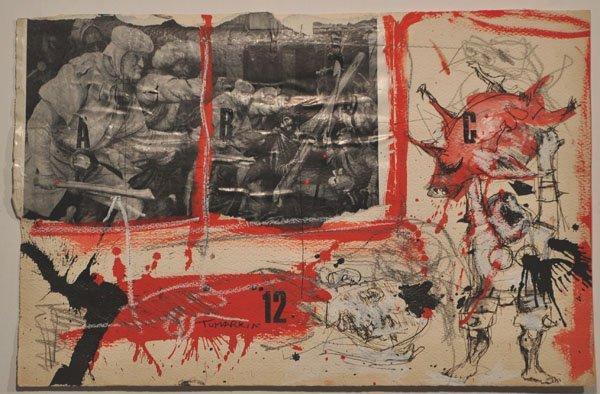 4: Igael Tumarkin, Original PAINTING, Israeli/German