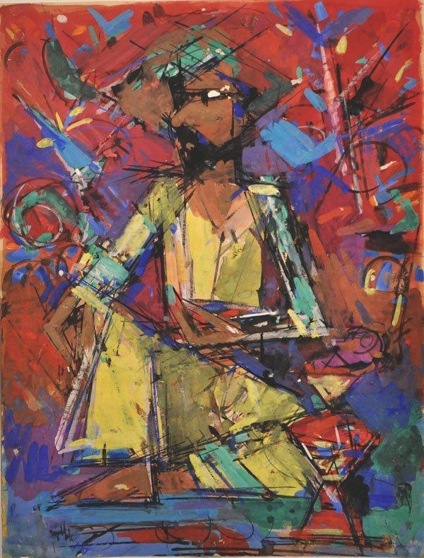 5: Arieh Lubin Original painting, Israeli Art