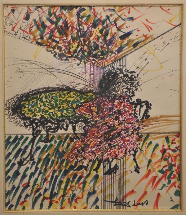 8: Uri Lifshitz, Original Ink Painting, Israeli Art