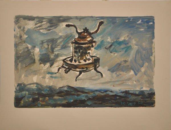 13: Yosl Bergner Original Oil Painting, Israeli art