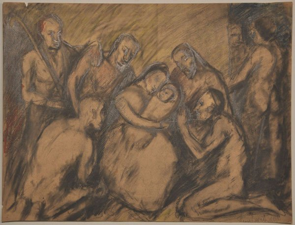 18: Jakob Steinhardt Original RARE pastel drawing, Jewi