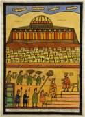 21: Shalom of Safed, RARE Painting - Biblical, Jewish a
