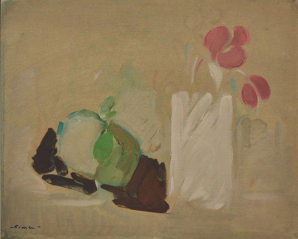 23: Fima, Original Oil on paper, Israeli/Chinese art