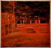 42: Jan Rauchwerger, original oil painting, Israeli art