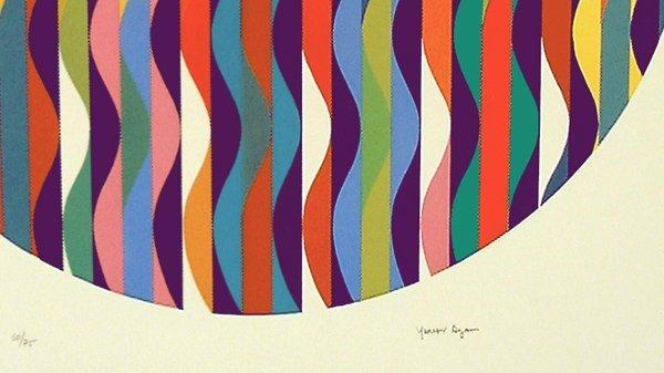 Yaacov Agam Original S&N Silkscreen, Kinetic Art - 3