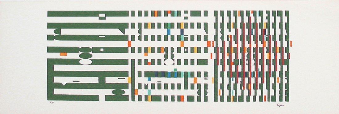 Yaacov Agam Original S&N Silkscreen Israeli Art