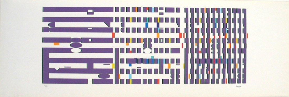 Yaacov Agam Original S&N Silkscreen, Kinetic Art