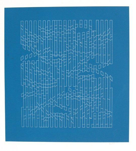 Yaacov Agam Original S&N Silkscreen, Israeli Art