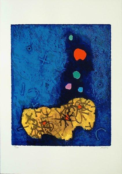 Mordecai Ardon Original Silkscreen, Jewish art