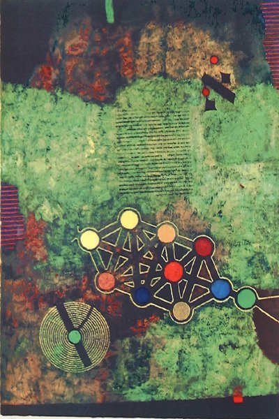 Mordecai Ardon Original Lithograph, Kabalah
