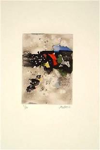 Mordecai Ardon Original S&N Etching, Jewish art