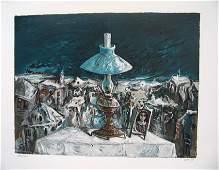 Yosl Bergner Original S&N Silkscreen, Israeli art