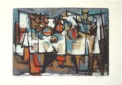 Marcel Janco Original S&N Silkscreen, Israeli art