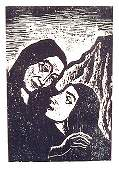 Jacob Steinhardt, original S&N Woodcut, Jewish art