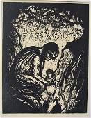 Jacob Steinhardt Original S&N woodcut, Jewish art