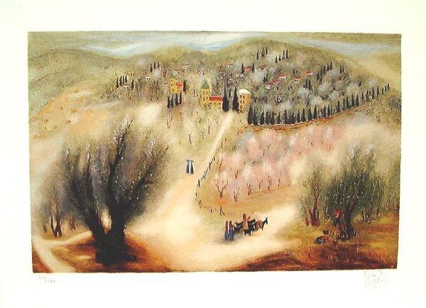 6001: Reuven Rubin Original Signed No. Lithograph Galil