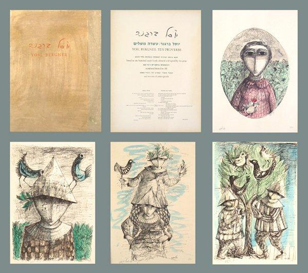 6004: Y.Bergner 10 Original Hand-clrd Litho Portfolio
