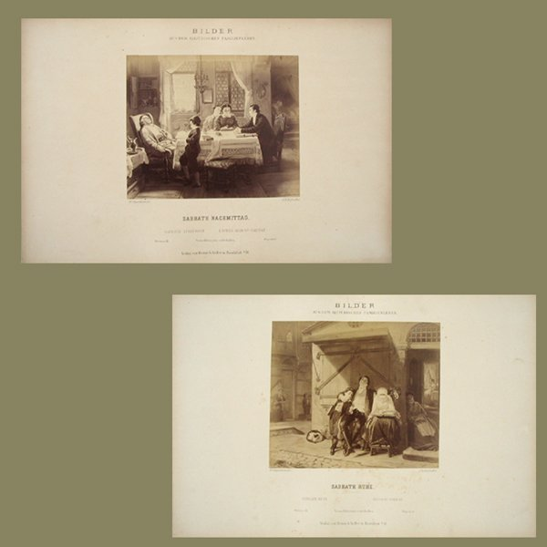 6006: M. Oppenhiem Reproductions of Jewish Etchings