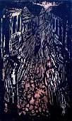 6007: Jacob Steinhardt Original Woodblock Jewish Art
