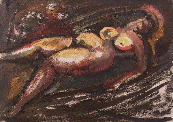 6009: Fima Original Oil Painting Israeli/Chinese