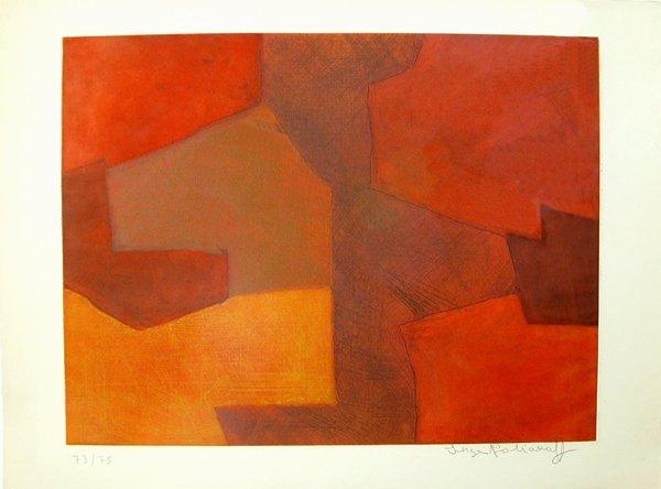 6045: Serge Poliakoff Original Signed No.etching